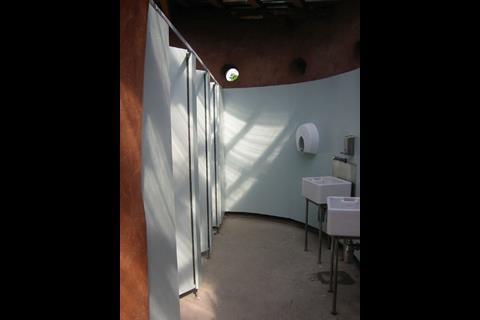 Cob Visitor Facility, Eden Project, ladies toilets